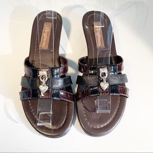 "Brighton Brown Leather ""Lucky"" Sandals Size 7M"